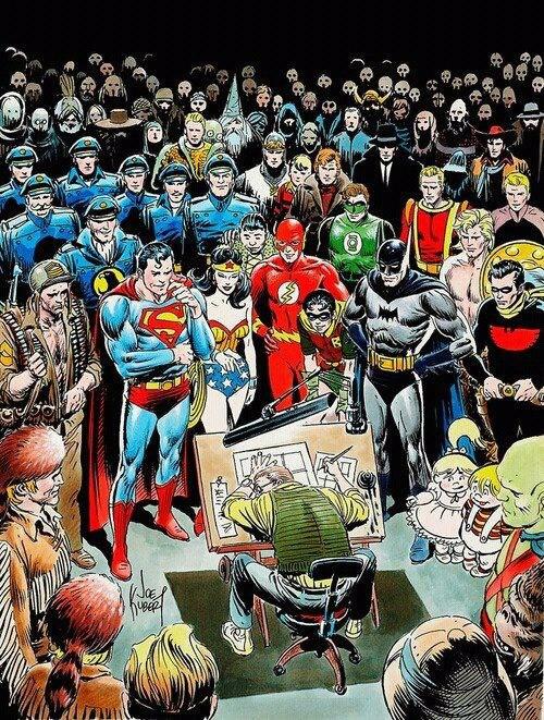 畫過無數超級英雄漫畫的漫畫家Joe Kubert
