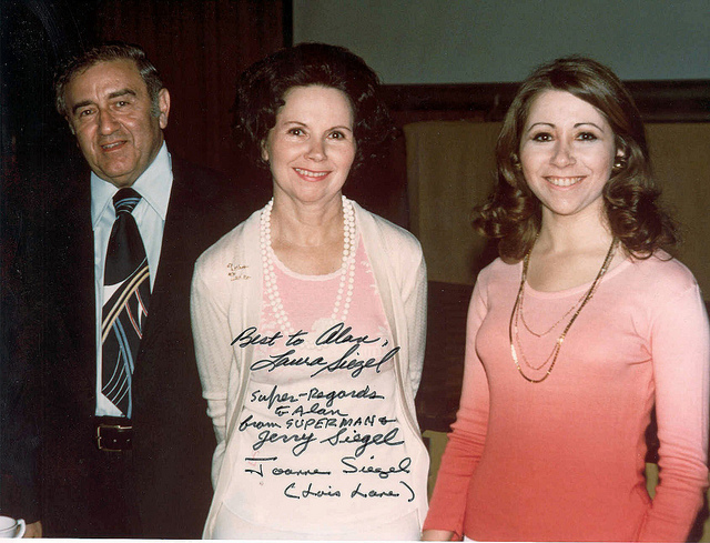 Jerry Siegel, Joanne Siegel, Laura Siegel Larson