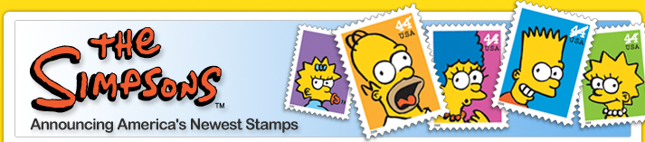The Simpsons™ Announcing America's Newest Stamps