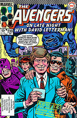 Letterman on the Avengers comic