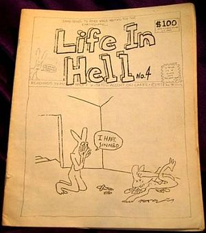 Cover of Life In Hell No. 4, published in 1978.