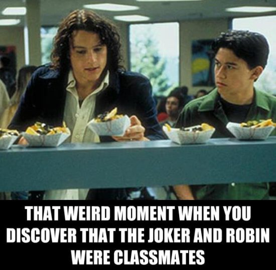 That Weird Moment When You Discover That The Joker And Robin Were Classmates
