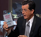 Steven-Colbert-with-Elements-of-Style-Fourth-Edition-William-Strunk-Jr.-Author-E.-B.-White-Author-Roger-Angell-Foreword