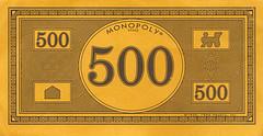 Monopoly Money - new design $500