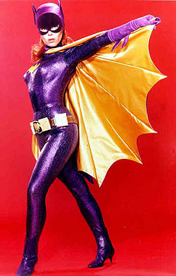 Batgirl as portrayed by Yvonne Craig in the 19...