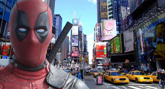 Deadpool In Times Square