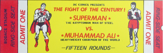 Superman Muhammad Ali Ticket