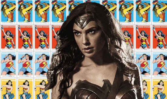 wonder woman gal godot stamps