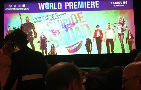 suicide Squad world premiere